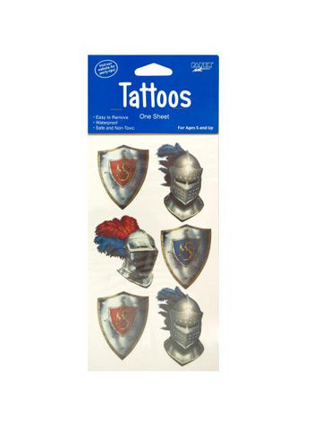 Valiant Knight Temporary Tattoos (Available in a pack of 24)