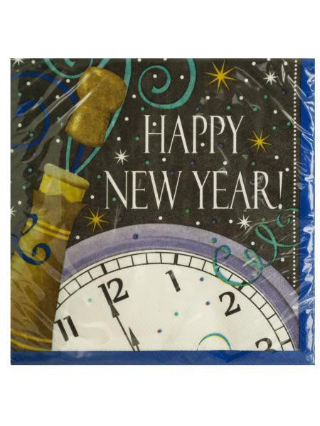 Happy New Year Champagne Lunch Napkins (Available in a pack of 24)