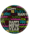 Happy New Year Word Art Party Plates (Available in a pack of 24)