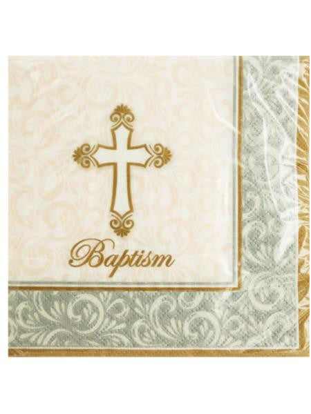 Baptism Divinity Beverage Napkins (Available in a pack of 24)