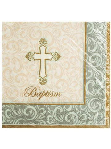 Baptism Divinity Lunch Napkins (Available in a pack of 24)