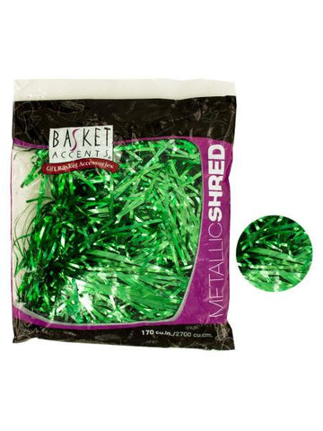 Large Green Metallic Gift Shred (Available in a pack of 24)