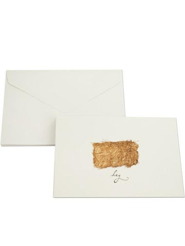Hey Haystack Blank Note Cards & Envelopes Set (Available in a pack of 32)
