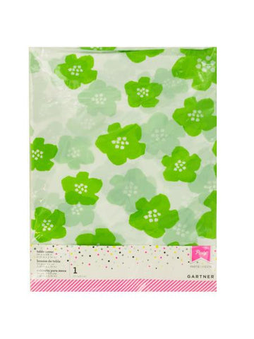 Green & White Floral Print Table Cover (Available in a pack of 24)