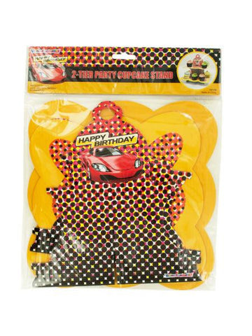 2 Tier Race Car Party Cupcake Stand (Available in a pack of 24)