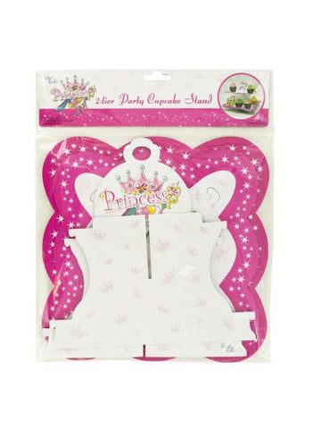 2 Tier Princess Party Cupcake Stand (Available in a pack of 24)