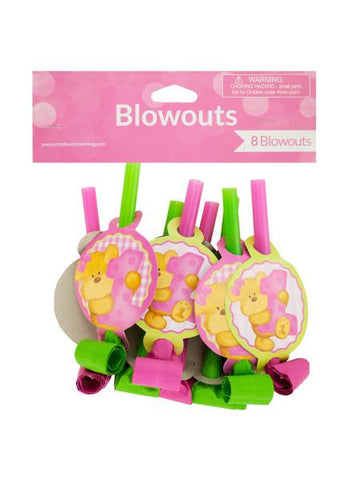 Girl's First Birthday Party Blowouts (Available in a pack of 24)