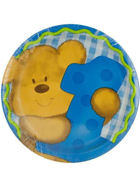 Boy's First Birthday Plates Set (Available in a pack of 24)