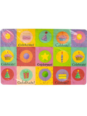 Celebrate Birthday Placemats Set (Available in a pack of 20)