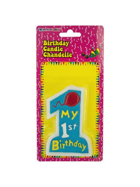 Blue My 1st Birthday Candle (Available in a pack of 24)