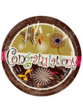 Congratulations Party Dinner Plates (Available in a pack of 24)