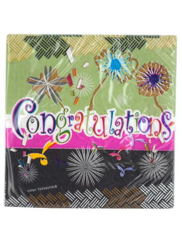 Congratulations Beverage Napkins (Available in a pack of 24)