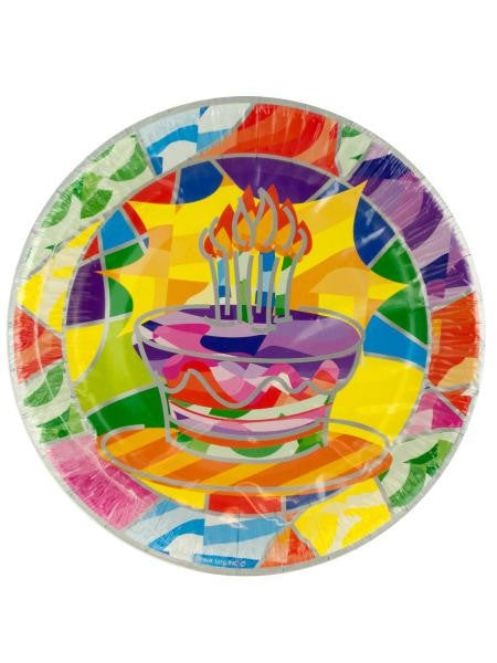 Birthday Cake Party Dessert Plates (Available in a pack of 24)