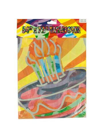 Birthday Cake Printed Tablecover (Available in a pack of 24)