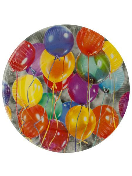 Balloon Party Dessert Plates (Available in a pack of 24)