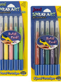 Spray Art Airbrush Pen Refill Cartridges (Available in a pack of 24)