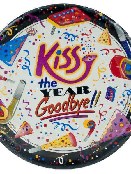 Kiss the Year Goodbye Party Plates (Available in a pack of 24)