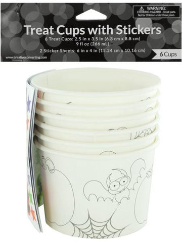Halloween Treat Cups with Stickers (Available in a pack of 24)