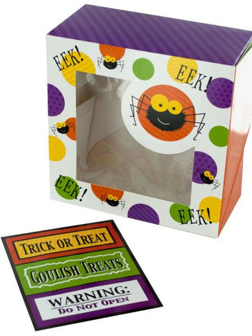 Halloween Spider Treat Boxes with Stickers (Available in a pack of 18)