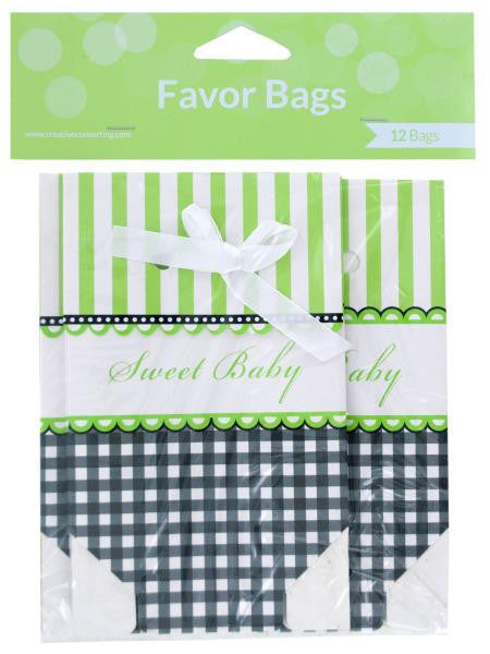 Sweet Baby Foldover Favor Bags with Ribbons (Available in a pack of 24)