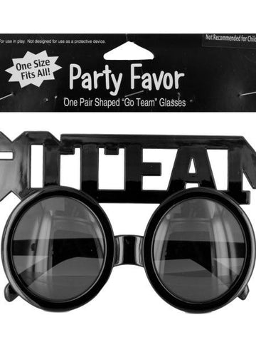 Go Team Shaped Party Favor Glasses (Available in a pack of 24)