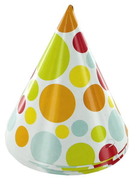 Chic Polka Dot Adult Party Hats (Available in a pack of 24)