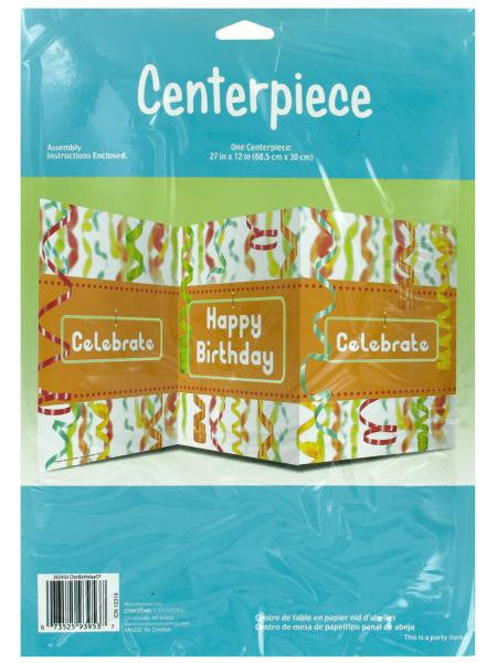 Chic Happy Birthday Table Centerpiece (Available in a pack of 24)