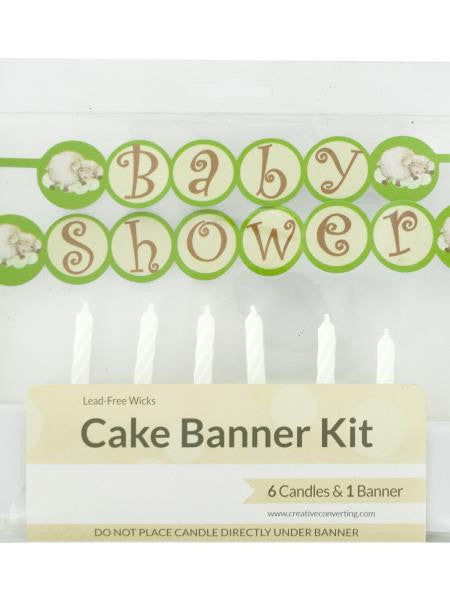 Baby Shower Cake Banner & Candles Kit (Available in a pack of 24)