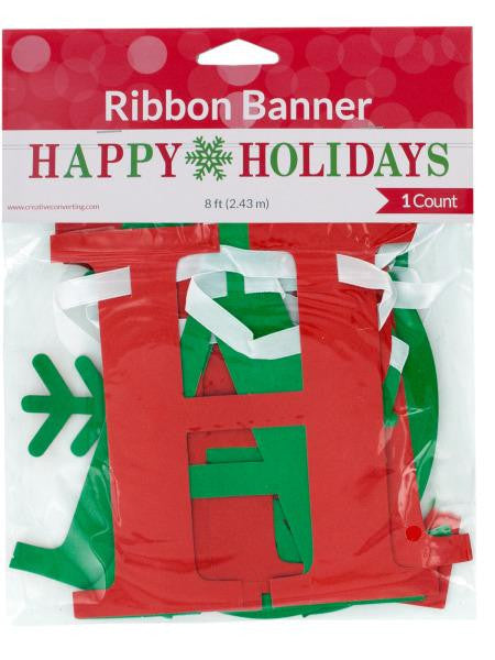 Happy Holidays Ribbon Banner (Available in a pack of 24)
