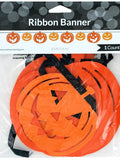 Pumpkin Faces Halloween Ribbon Banner (Available in a pack of 24)