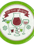 'Tis the Season Holiday Toasts Party Plates (Available in a pack of 24)
