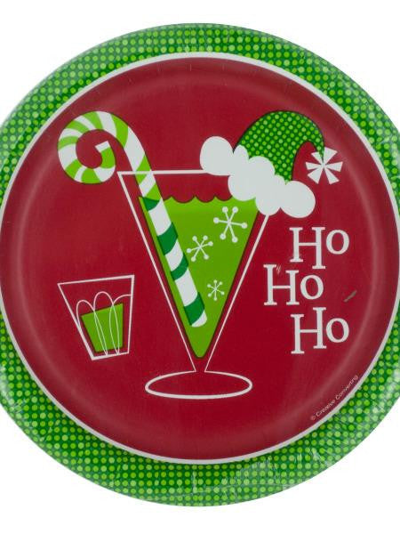 Ho Ho Ho Holiday Toasts Party Plates (Available in a pack of 24)