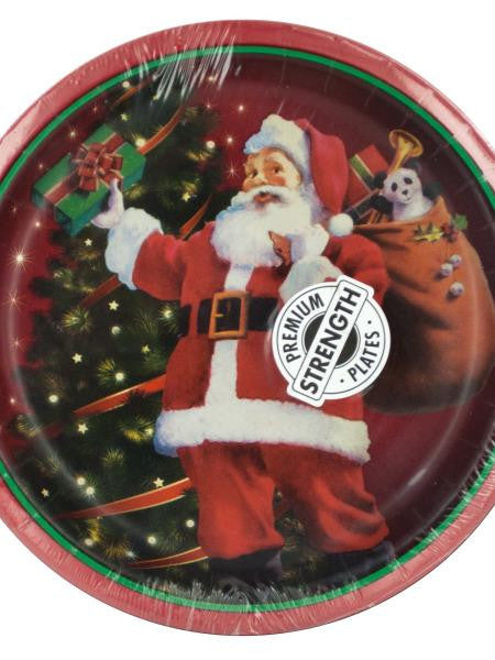Gifts From Santa Holiday Party Plates (Available in a pack of 24)