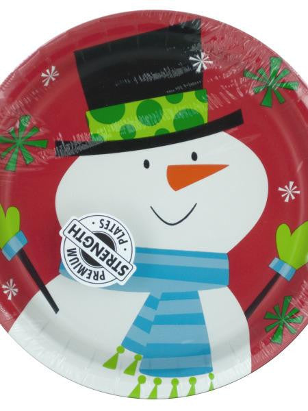 Frosty Friends Snowman Party Plates (Available in a pack of 24)