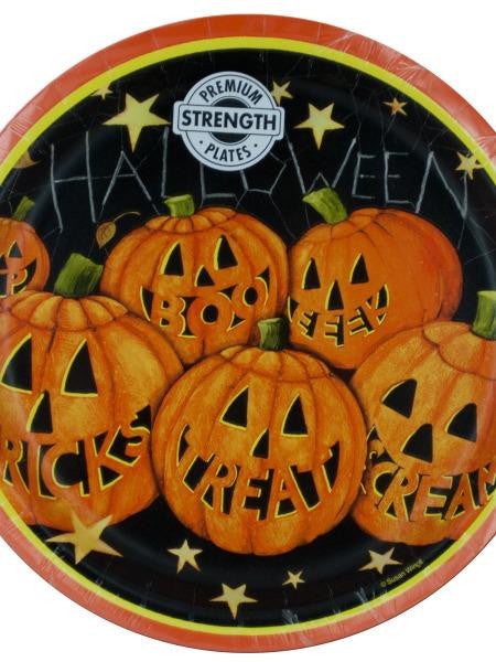 Pumpkin Smiles Halloween Party Plates (Available in a pack of 24)