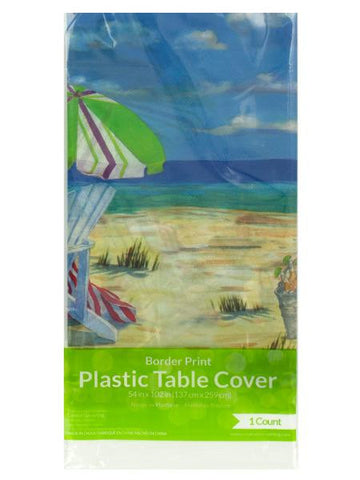 Beach Relaxation Party Table Cover (Available in a pack of 24)