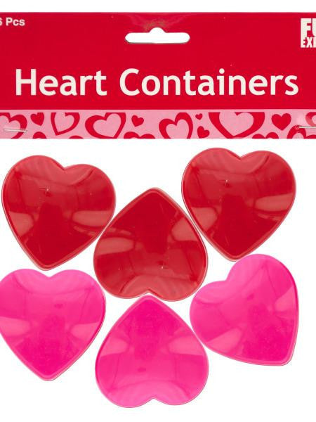 Mini Plastic Heart Containers (Available in a pack of 30)