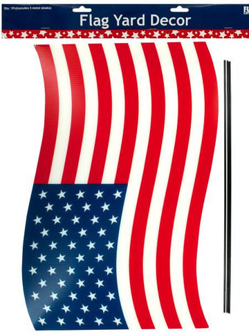 American Flag Yard Decor (Available in a pack of 12)