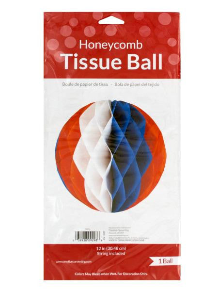 Patriotic Honeycomb Tissue Ball Decoration (Available in a pack of 24)