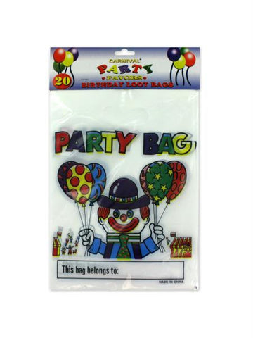Carnival-theme birthday loot bags (Available in a pack of 24)