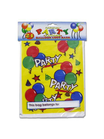 Party Favor Loot Bags with Balloon Design (Available in a pack of 24)