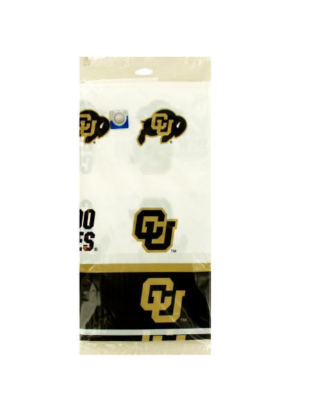 Colorado Buffaloes Plastic Tablecover (Available in a pack of 24)