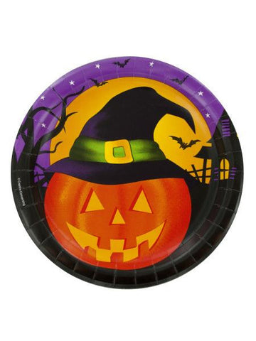 Pumpkin Haunt Halloween Party Plates (Available in a pack of 24)