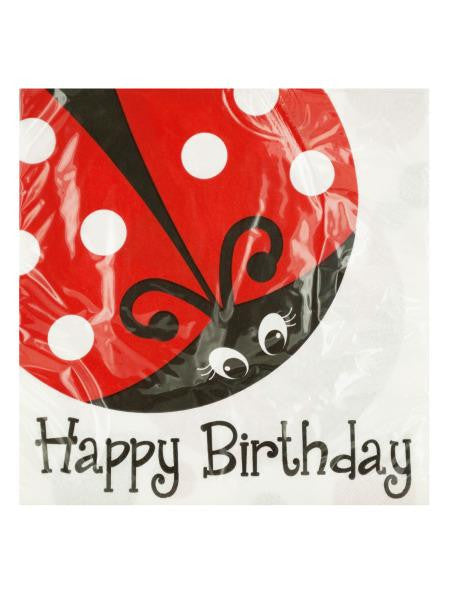 Little Ladybug Happy Birthday Napkins (Available in a pack of 24)