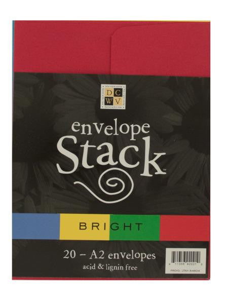 Bright Colors Envelope Stack (Available in a pack of 24)