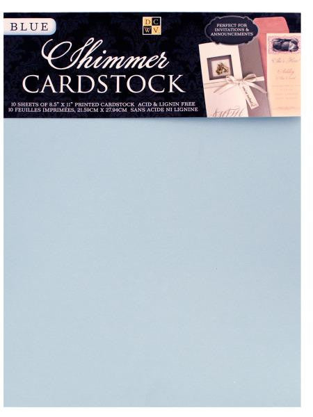 Light Blue Shimmer Cardstock Sheets (Available in a pack of 24)