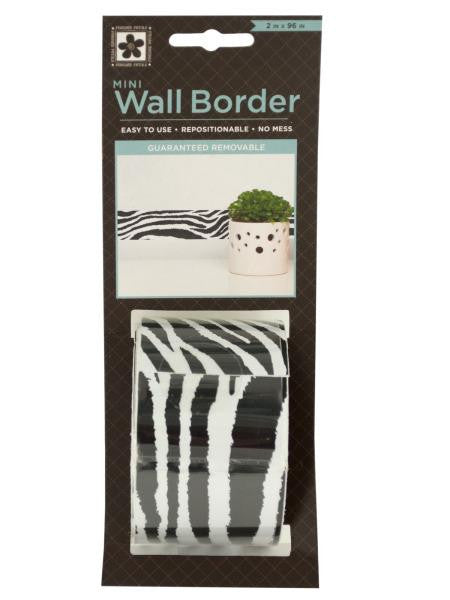 Zebra Pattern Mini Repositionable Wall Border (Available in a pack of 24)