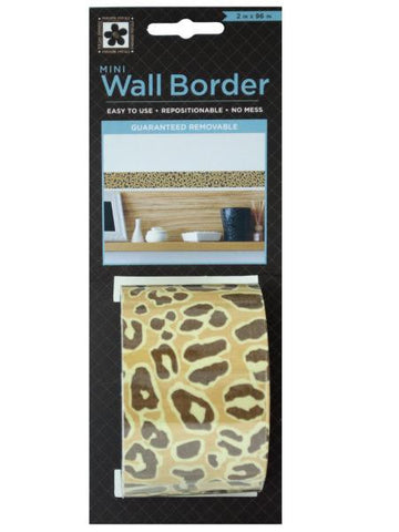 Cheetah Pattern Mini Repositionable Wall Border (Available in a pack of 24)