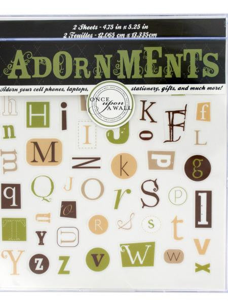 Alphabet Craft Adornment Stickers (Available in a pack of 24)