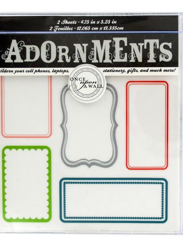 Blank Labels Craft Adornment Stickers (Available in a pack of 24)